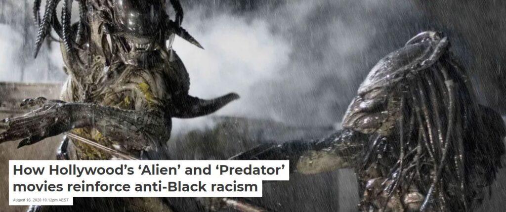 alien versus predator is racist