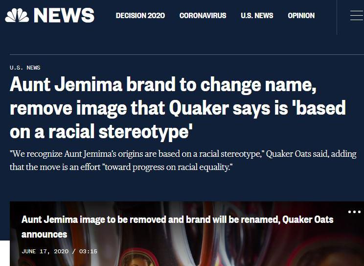 Pancake Syrup is racist