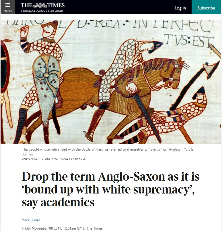 anglo-saxon is racist