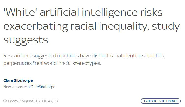 artificial intelligence is racist