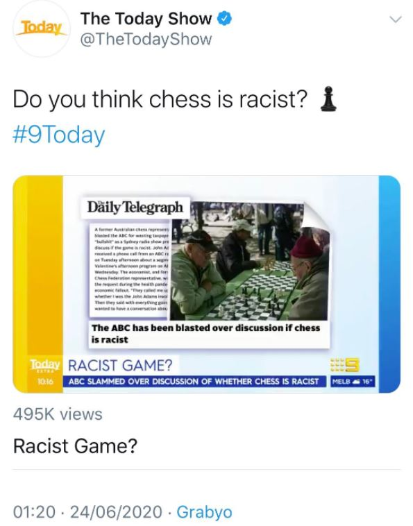 chess is racist