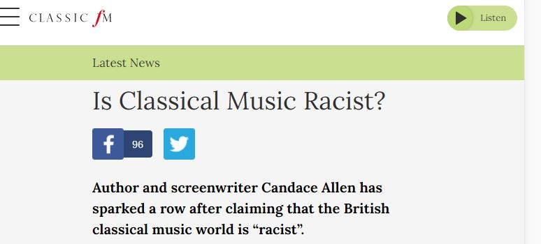 classical music is racist