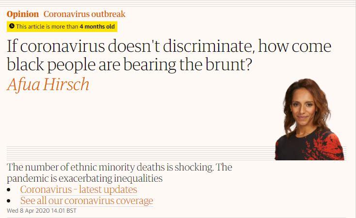 coronavirus is racist