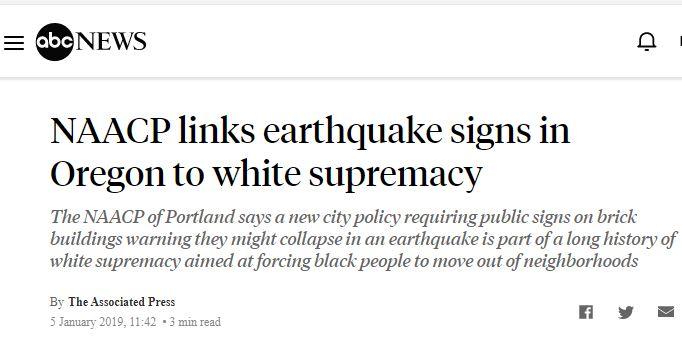 earthquakes is racist