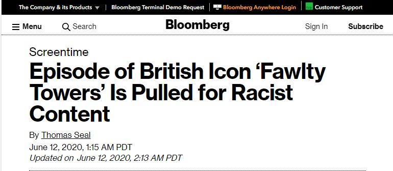 fawlty towers is racist