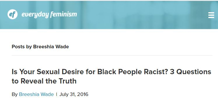 having sex with black people is racist