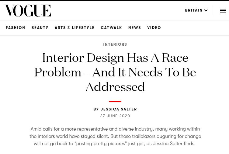 interior design is racist