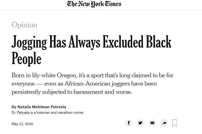 jogging is racist