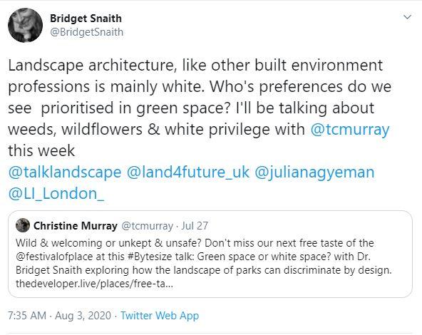 landscape architecture is racist