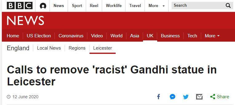 mahatma gandhi is racist