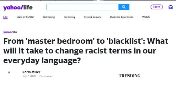 master bedroom is racist