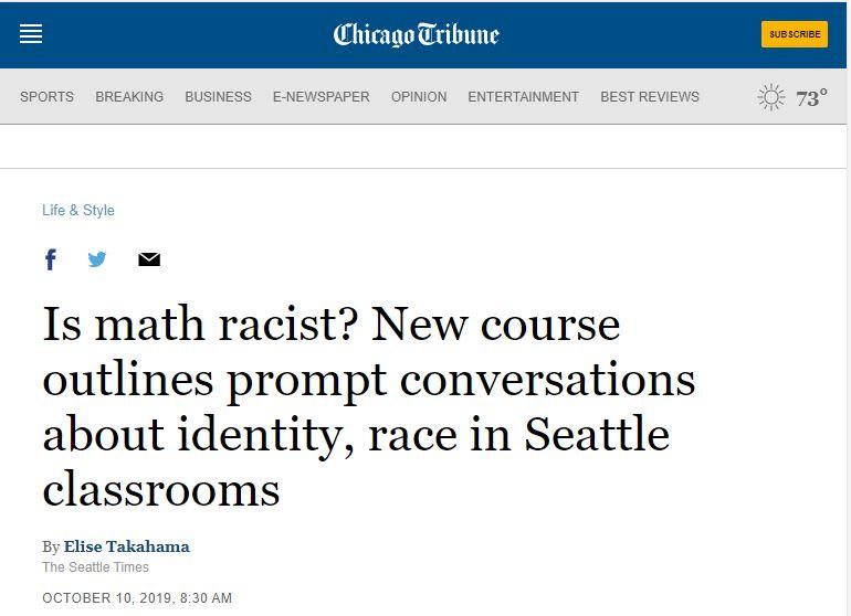 mathematics is racist