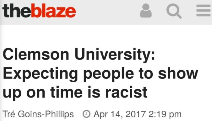 punctuality is racist