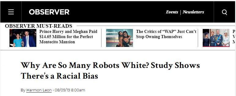 robots is racist