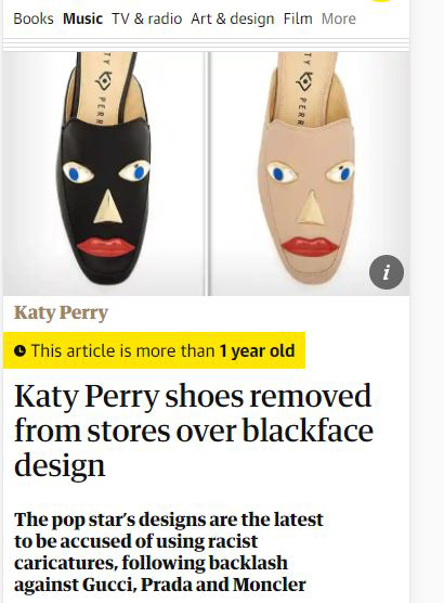 shoes is racist