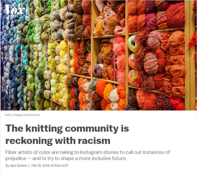 knitting is racist