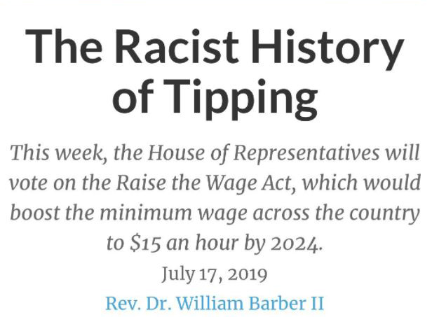 tipping is racist