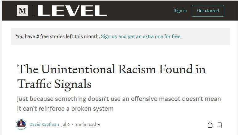 traffic signal is racist