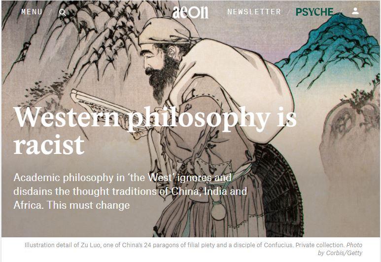 western philosophy is racist