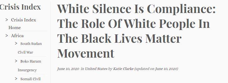 white people not speaking is racist