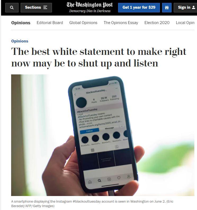 white people speaking is racist