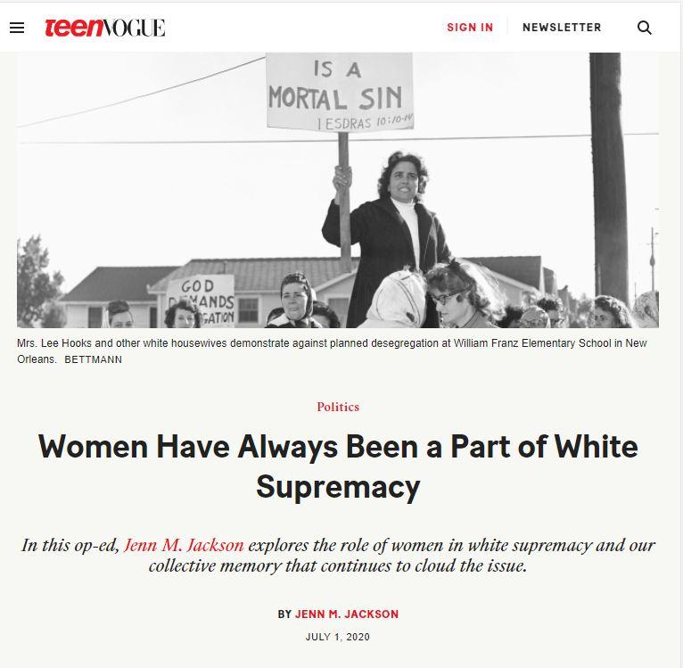 women is racist
