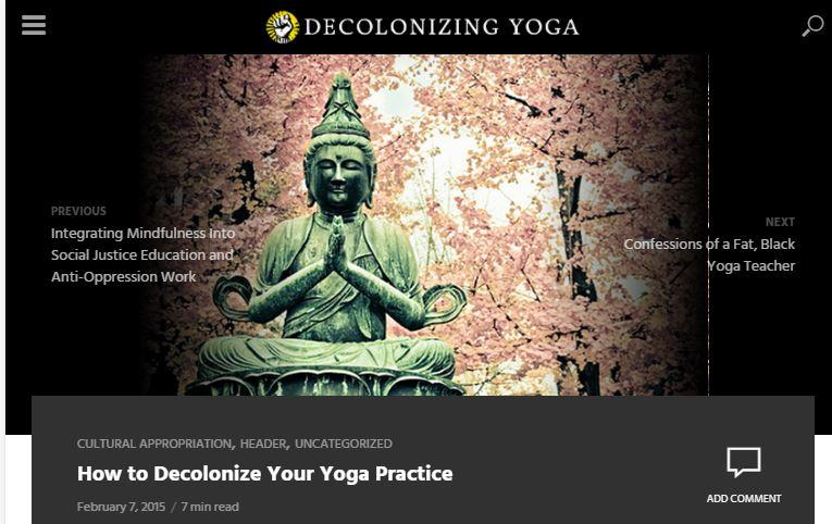 yoga is racist