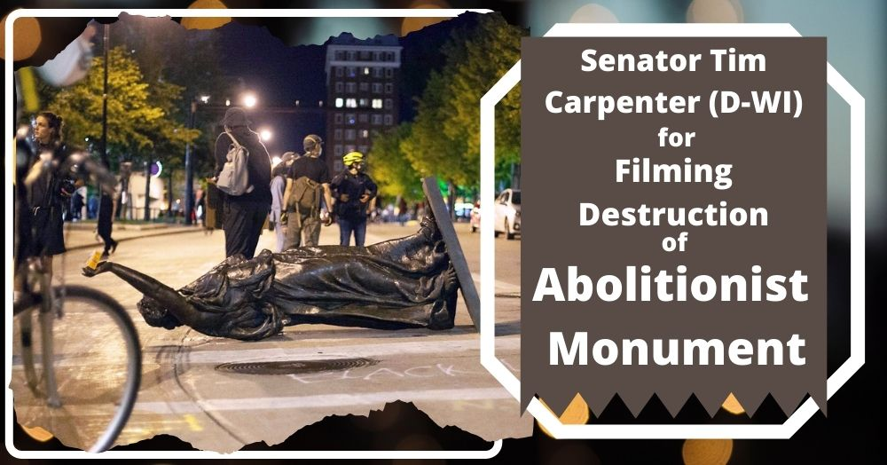 Senator Tim Carpenter (D-WI) Beatened for Filming Destruction of Abolitionist Monument